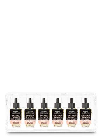 Mahogany Teakwood High Intensity Wallflowers Fragrance Refill, 6-Pack