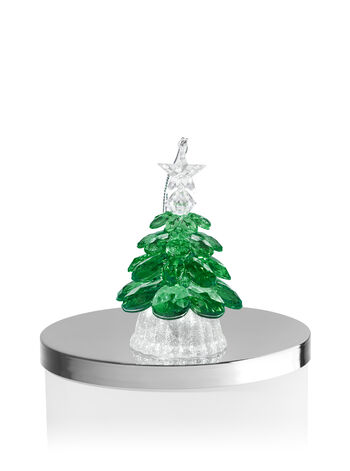Green Tree Light-Up 3-Wick Candle Magnet