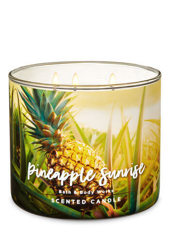 Pineapple Sunrise 3-Wick Candle - Bath And Body Works