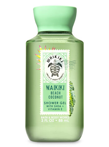 Signature Collection Waikiki Beach Coconut Travel Size Shower Gel - Bath And Body Works