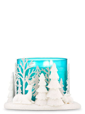 Snowy Scene 3-Wick Candle Holder