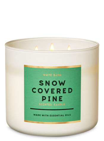 White Barn Snow Covered Pine 3-Wick Candle - Bath And Body Works