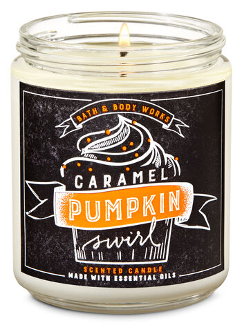 Caramel Pumpkin Swirl Single Wick Candle