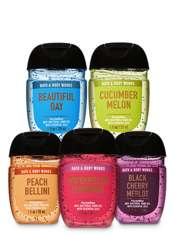 Fruity & Fresh PocketBac Hand Sanitizers, 5-Pack - Bath And Body Works