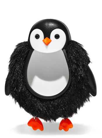 Fuzzy Penguin Visor Clip Car Fragrance Holder