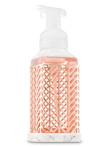 Rose Gold Chevron Gentle Foaming Soap Holder - Bath And Body Works