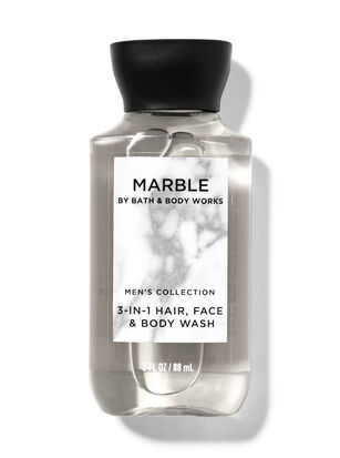 Marble Travel Size 3-in-1 Hair, Face & Body Wash