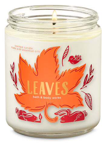 Leaves Single Wick Candle - Bath And Body Works