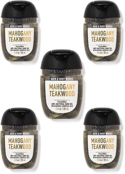 Mahogany Teakwood PocketBac Hand Sanitizers, 5-Pack