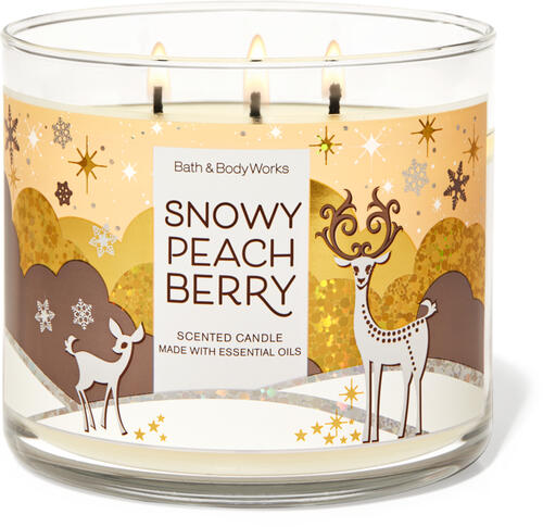 Snowy Peach Berry 3-Wick Candle
