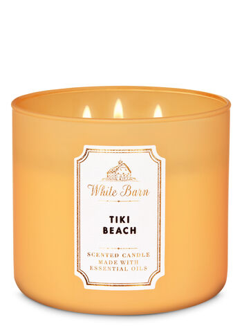 White Barn Tiki Beach 3-Wick Candle - Bath And Body Works