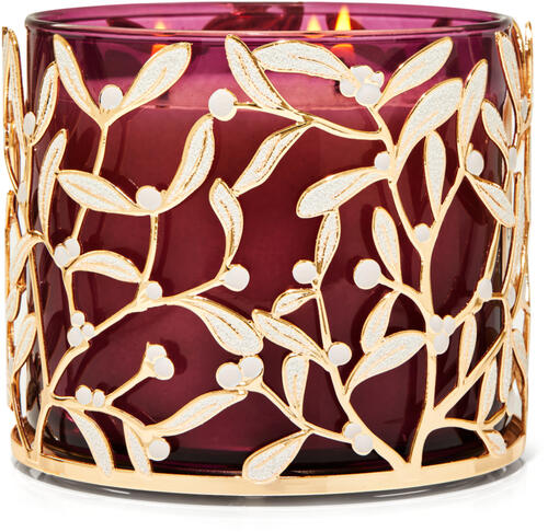 Mistletoe 3-Wick Candle Holder