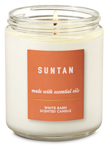 Suntan Single Wick Candle - Bath And Body Works