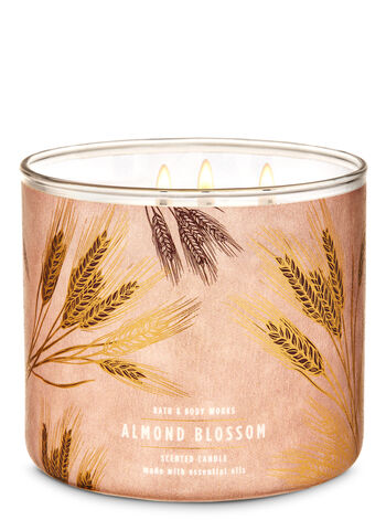 Almond Blossom 3-Wick Candle - Bath And Body Works