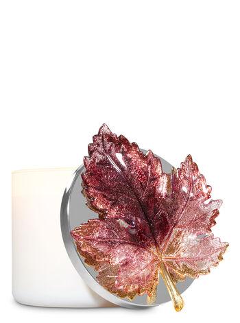 Glittery Burgundy Leaf Candle Magnet - Bath And Body Works
