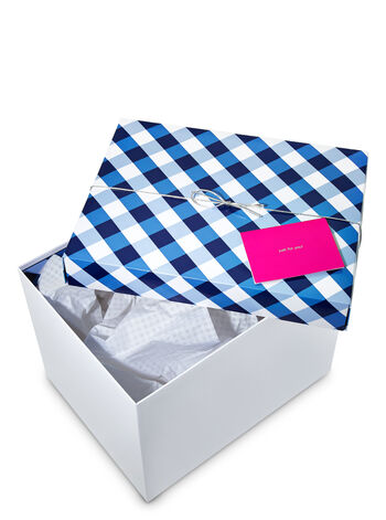 Large Gingham Gift Box Kit - Bath And Body Works