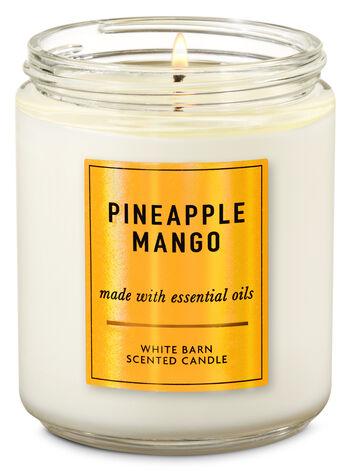 Pineapple Mango Single Wick Candle - Bath And Body Works