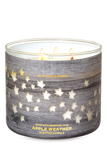 Apple Weather 3-Wick Candle - Bath And Body Works