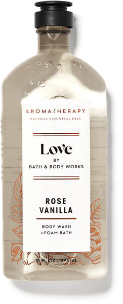 Rose Vanilla Body Wash and Foam Bath