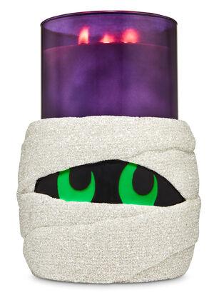 Glow-in-the-Dark Mummy Pedestal 3-Wick Candle Holder