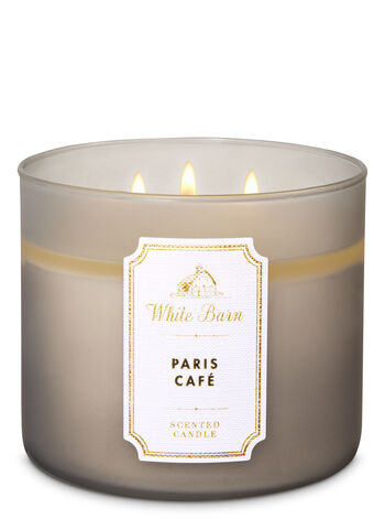 White Barn Paris Café 3-Wick Candle - Bath And Body Works