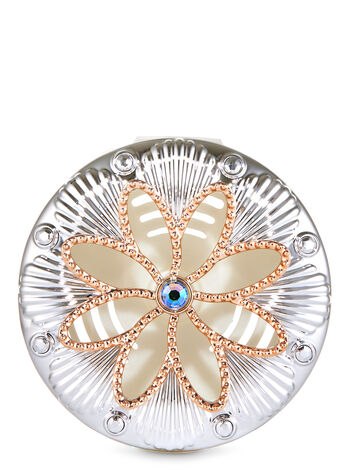 Metallic Flower Vent Clip Car Fragrance Holder