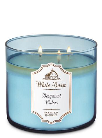 White Barn Bergamot Waters 3-Wick Candle - Bath And Body Works