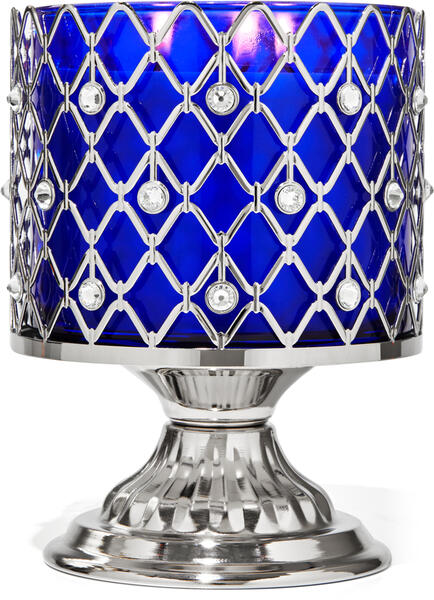 Wired Gems Pedestal 3-Wick Candle Holder