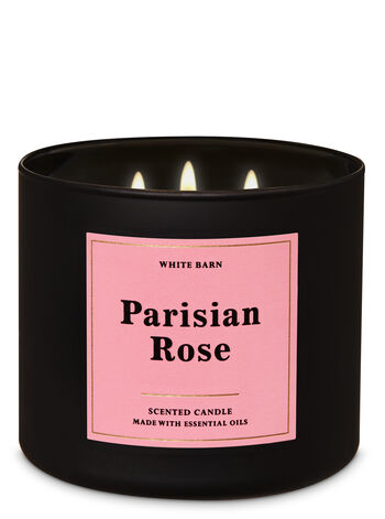 Parisian Rose 3-Wick Candle - Bath And Body Works