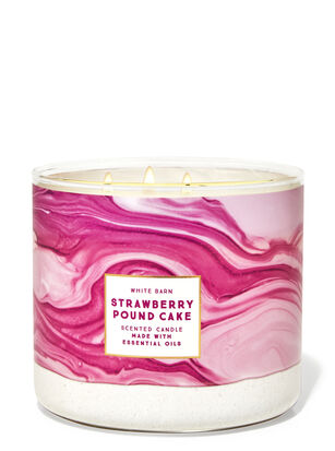 Strawberry Pound Cake 3-Wick Candle