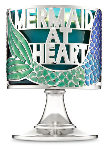 Mermaid at Heart Pedestal 3-Wick Candle Holder - Bath And Body Works
