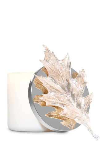 Glittery Silver Leaf Candle Magnet - Bath And Body Works