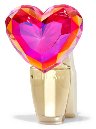 Crystal Heart Nightlight Wallflowers Fragrance Plug