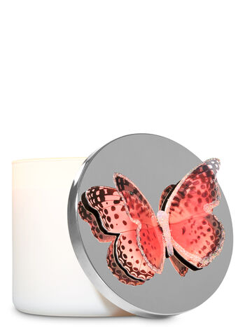 Pink Butterfly 3-Wick Candle Magnet - Bath And Body Works