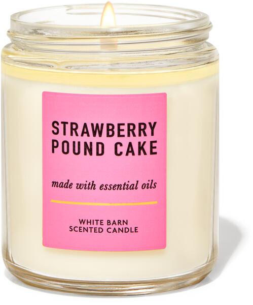 Strawberry Pound Cake Single Wick Candle