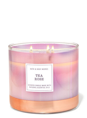 Tea Rose 3-Wick Candle