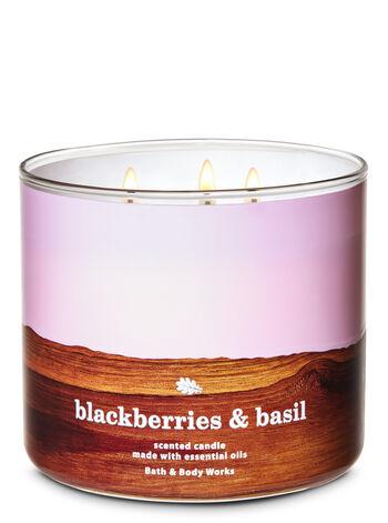 Blackberries & Basil 3-Wick Candle