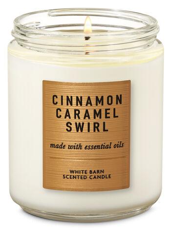 Cinnamon Caramel Swirl Single Wick Candle - Bath And Body Works