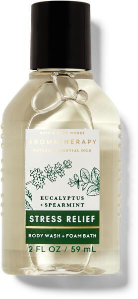 Eucalyptus Spearmint Travel Size Body Wash and Foam Bath