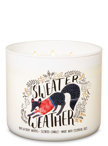 Sweater Weather 3-Wick Candle - Bath And Body Works