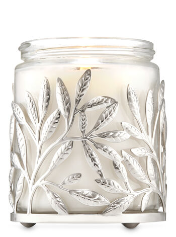 Silver Branches Single Wick Candle Holder - Bath And Body Works