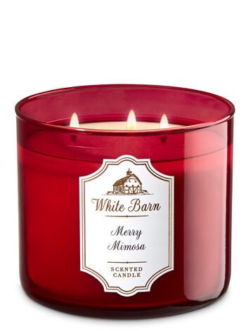 White Barn Merry Mimosa 3-Wick Candle - Bath And Body Works