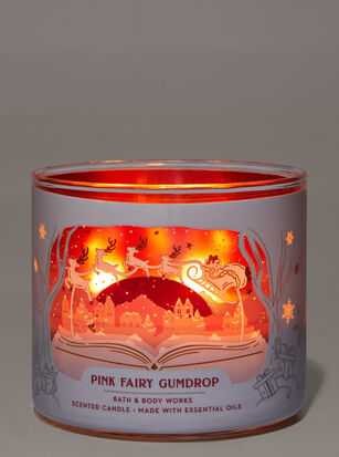 Pink Fairy Gumdrop 3-Wick Candle