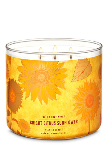 Bright Citrus Sunflower 3-Wick Candle - Bath And Body Works