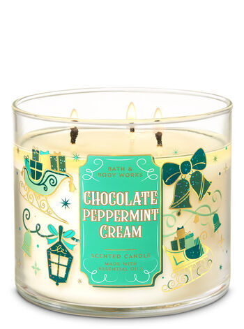 Chocolate Peppermint Cream 3-Wick Candle - Bath And Body Works