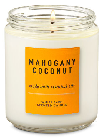 Mahogany Coconut Single Wick Candle - Bath And Body Works