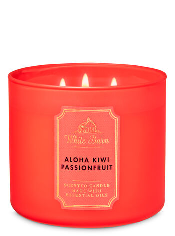 White Barn Aloha Kiwi Passionfruit 3-Wick Candle - Bath And Body Works