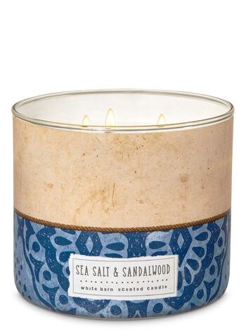 White Barn Sea Salt & Sandalwood 3-Wick Candle - Bath And Body Works