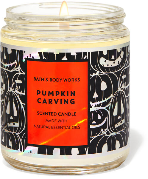 Pumpkin Carving Single Wick Candle