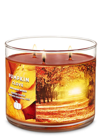 Pumpkin Clove 3-Wick Candle - Bath And Body Works